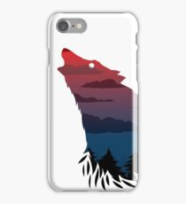 Scary howling wolf iPhone Case/Skin