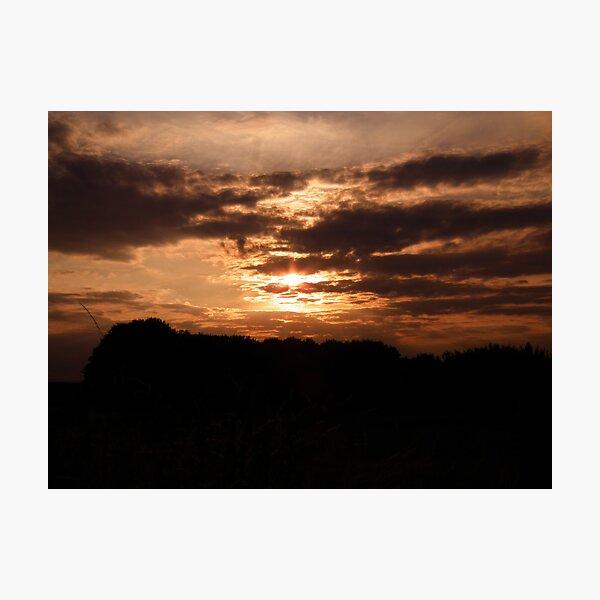 Kent Sunset 01 Photographic Print