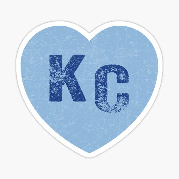 Baby Blue KC Heart Kansas City Hearts I Love Kc heart Kansas city KC Face mask Kansas City facemask Sticker