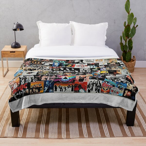 Rock Collage - Throw Blanket