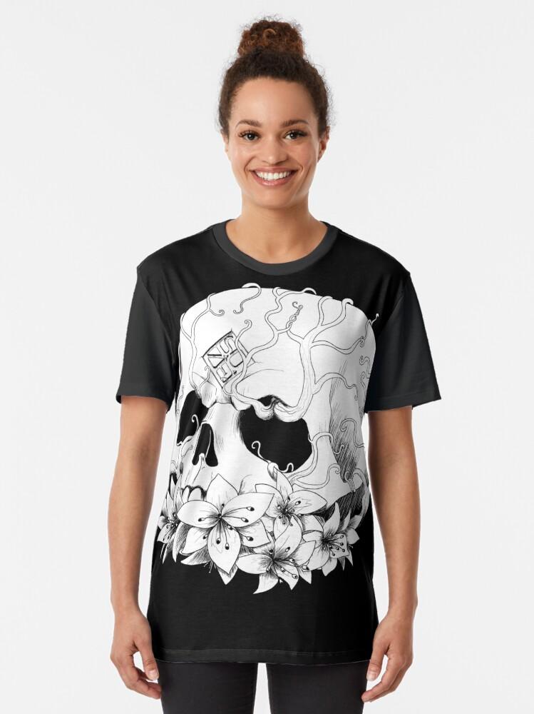 Alternate view of SUZE's skull Graphic T-Shirt
