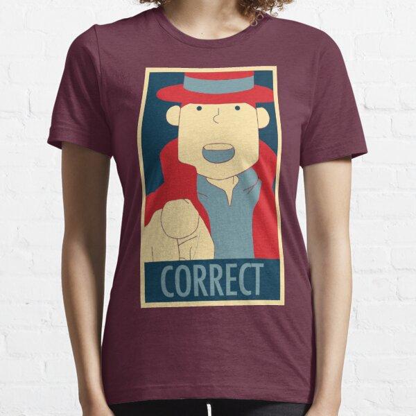 Correcto, el dedo acusador Camiseta esencial