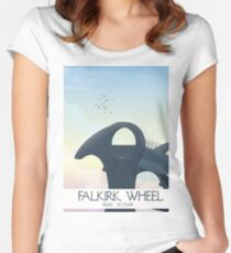 Falkirk Wheel Scotland travel poster Fitted Scoop T-Shirt