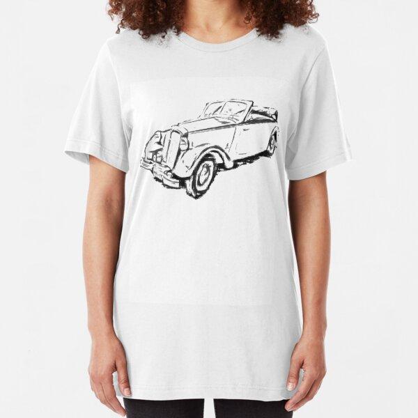 DKW F 8 - 700 Cabrio Deutscher Oldtimer Slim Fit T-Shirt