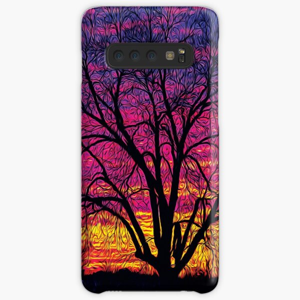 Colorful Pecan Tree Silhouette Samsung Galaxy Snap Case