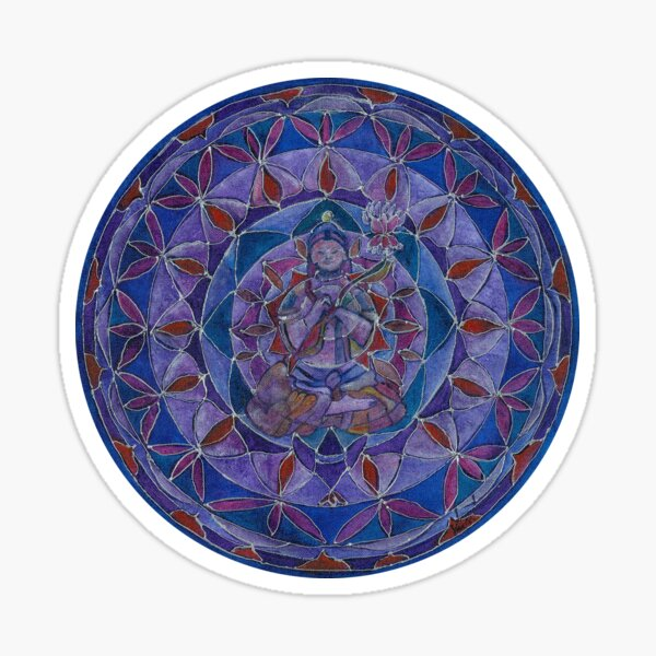 Abundance Buddha mandala Sticker