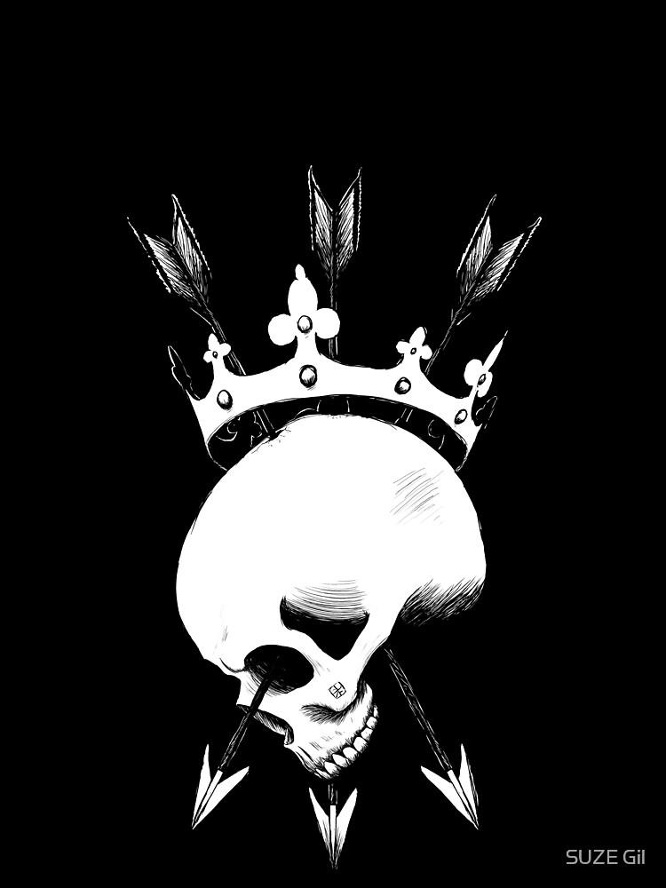 Pierced Crowned Skull by SuzeGil
