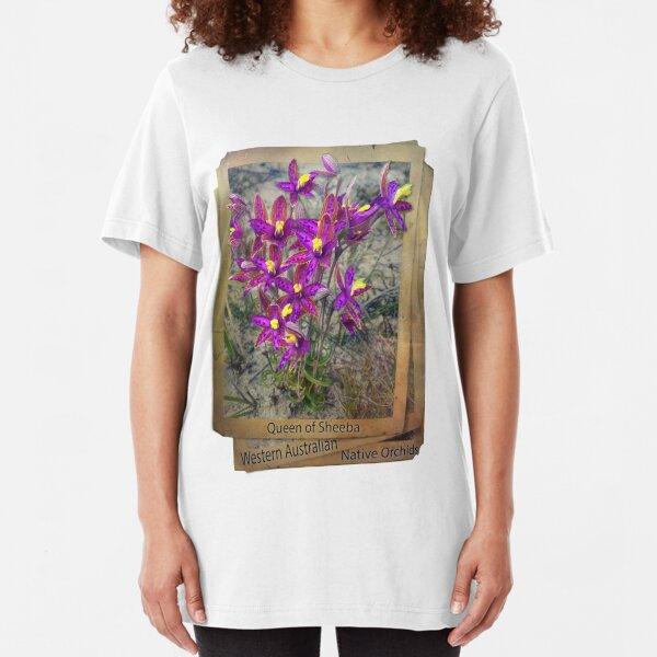 queen of sheeba WA native orchids Slim Fit T-Shirt