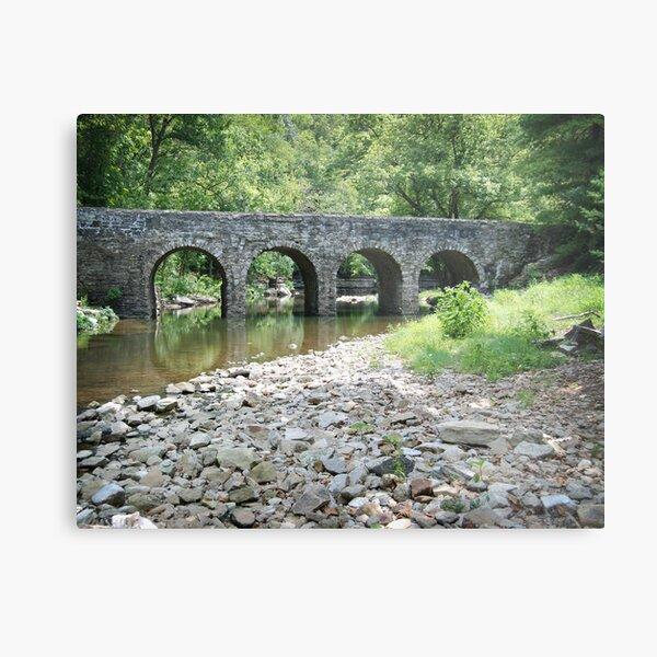 Glass Mill Bridge Metal Print