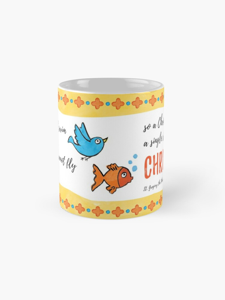 Alternate view of St Gregory Theologian quote Mugs