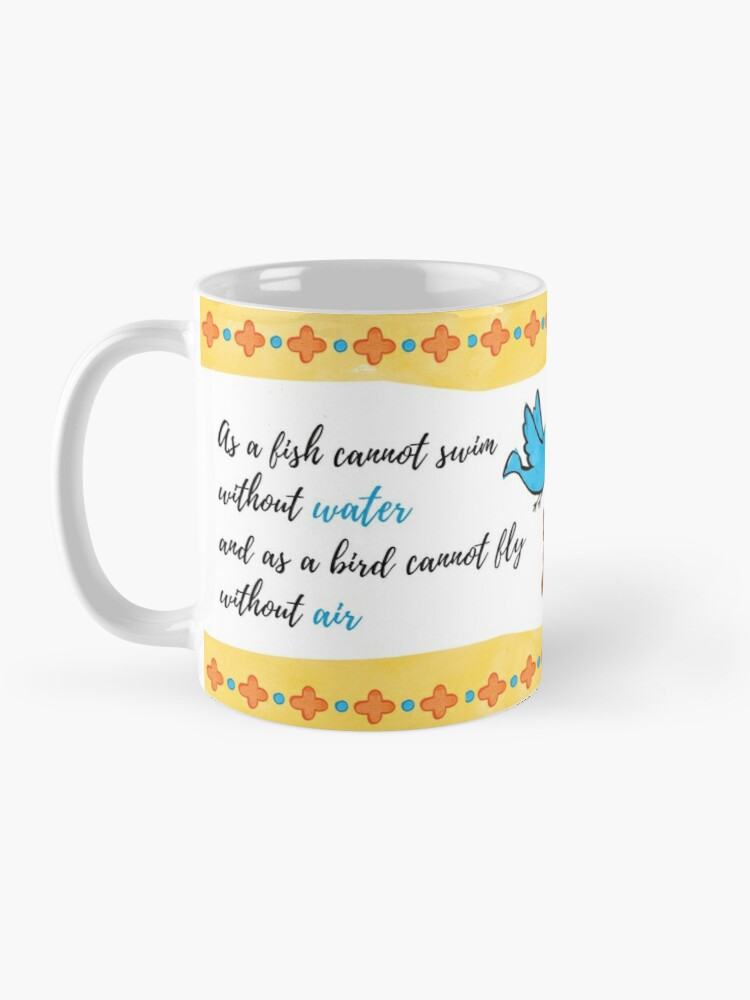 Alternate view of St Gregory Theologian quote Mug