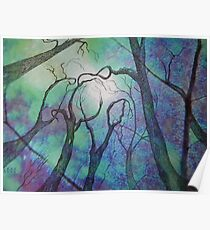 Blue trees - landscape - natural world - blue fantasy Poster