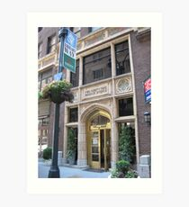 The Library Hotel on Library Way Art Print