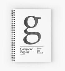 The Letter G Garamond Type Spiral Notebook