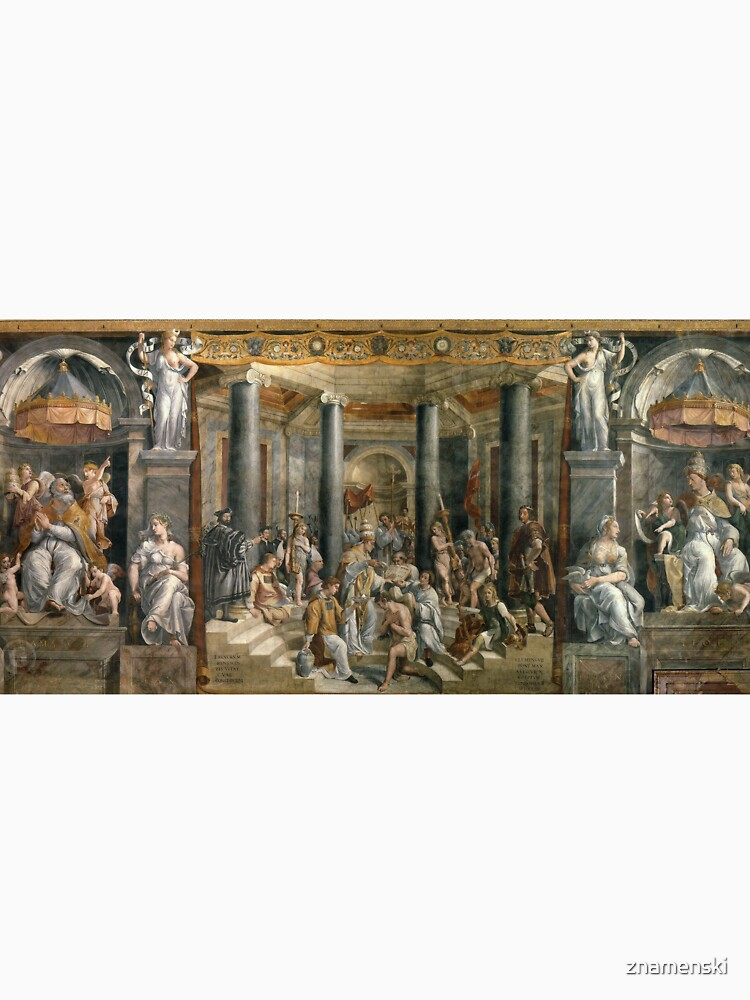 The Baptism of Constantine #FamousPlace, #international #landmark, #Raphael Rooms, Vatican City, Europe, Southern Europe, italian culture, art by znamenski