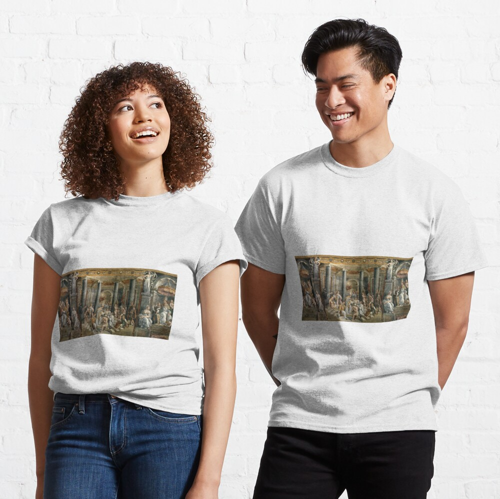 The Baptism of Constantine #FamousPlace, #international #landmark, #Raphael Rooms, Vatican City, Europe, Southern Europe, italian culture, art Classic T-Shirt