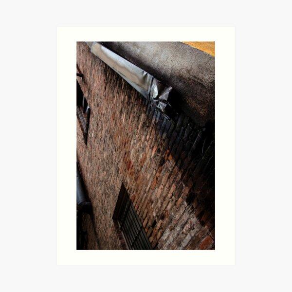 Industrial Brick and Drain Art Print