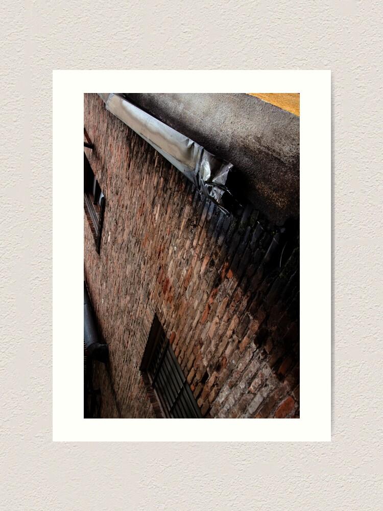 Alternate view of Industrial Brick and Drain Art Print