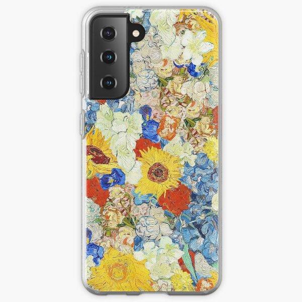 van gogh flower collage Samsung Galaxy Soft Case