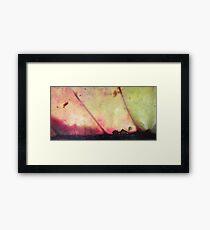 Small house - big hurricane - natural world Framed Print