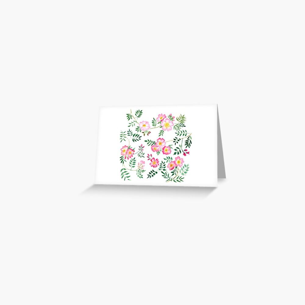 Carte de vœux «Églantines»
