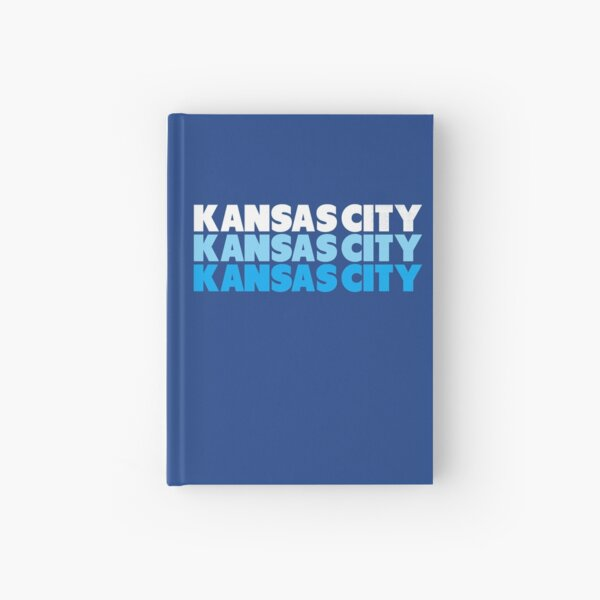 Retro KC Royal Blue & Light Blue Kansas City Crown Town KC Baseball Fans Wear Kansas city KC Face mask Kansas City facemask Hardcover Journal