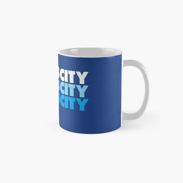 Retro KC Royal Blue & Light Blue Kansas City Crown Town KC Baseball Fans Wear Kansas city KC Face mask Kansas City facemask Classic Mug