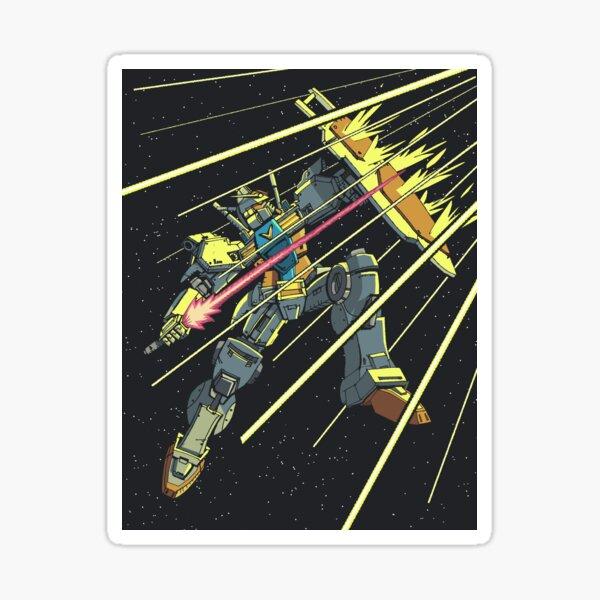 Gundam GP01 Zephyrantes under fire Sticker