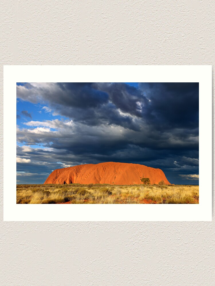 Alternate view of Ayers Rock (Uluru) Sunset, Australia Art Print
