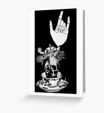 The Incredible, Teapot riding, Three-eyed winged Hulkskull Greeting Card