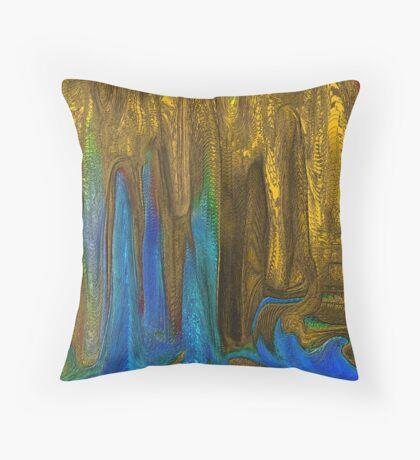 PLANET OF GOLDEN CAVES`  Throw Pillow
