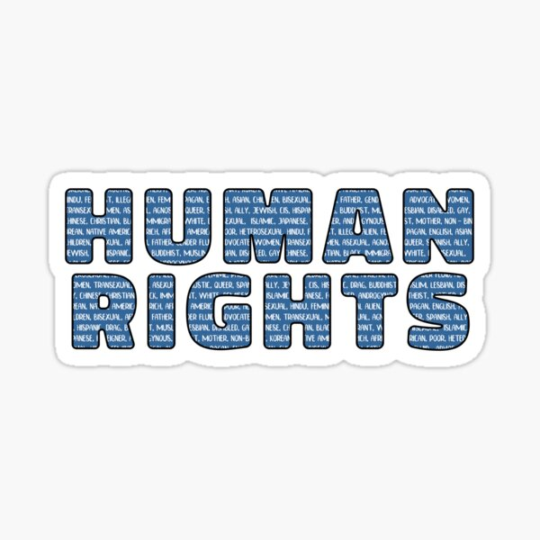 Human Rights For All Sticker