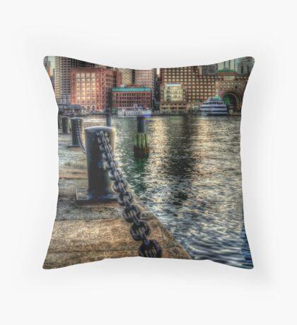 Boston Harbor walk  Throw Pillow