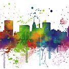 Skyline von Baltimore, Maryland von Marlene Watson