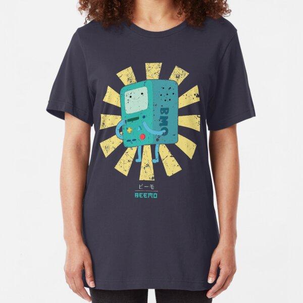 Beemo Retro Japanese Adventure Time Slim Fit T-Shirt