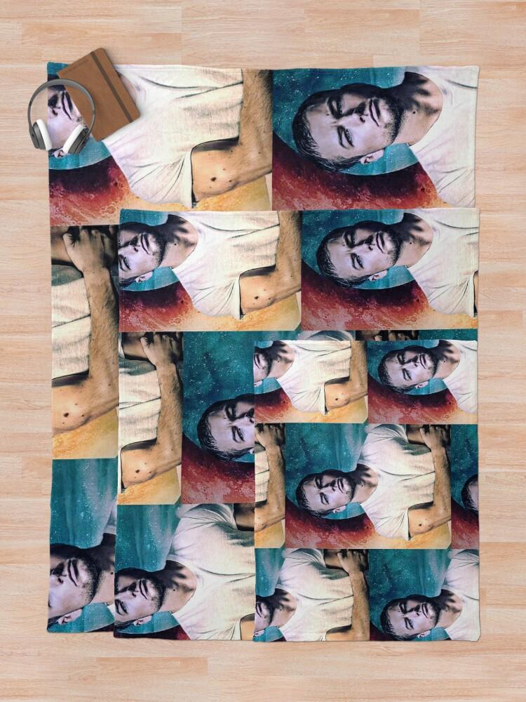 Alternate view of Taron Egerton Throw Blanket