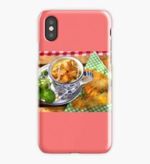 Bavarian Macaroni With Cheese and Crispy Cheese Cookie iPhone Case
