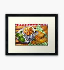 Bavarian Macaroni With Cheese and Crispy Cheese Cookie Framed Print