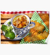 Bavarian Macaroni With Cheese and Crispy Cheese Cookie Poster