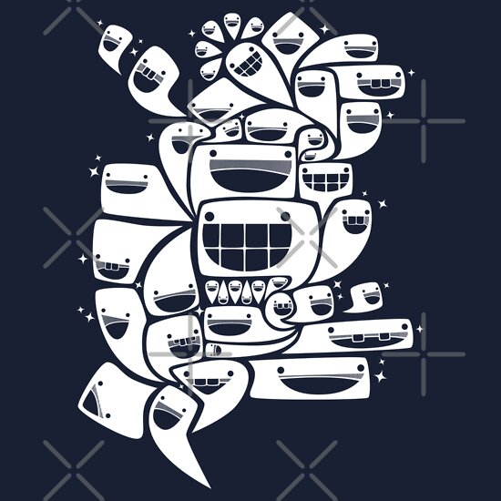 TShirtGifter presents: Happy Squiggles - 1-Bit Oddity - White Version