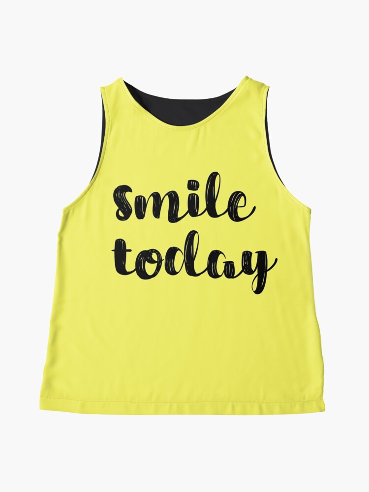 Alternate view of Smile Today Quote Sleeveless Top