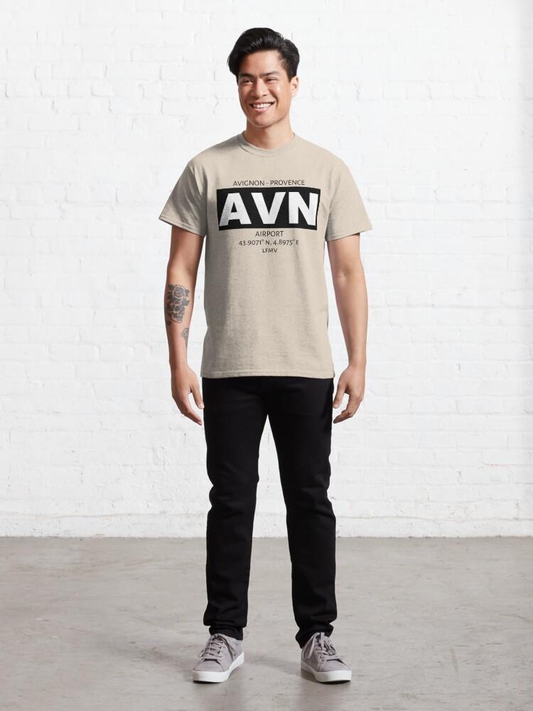 Alternate view of Avignon Provence Airport AVN Classic T-Shirt