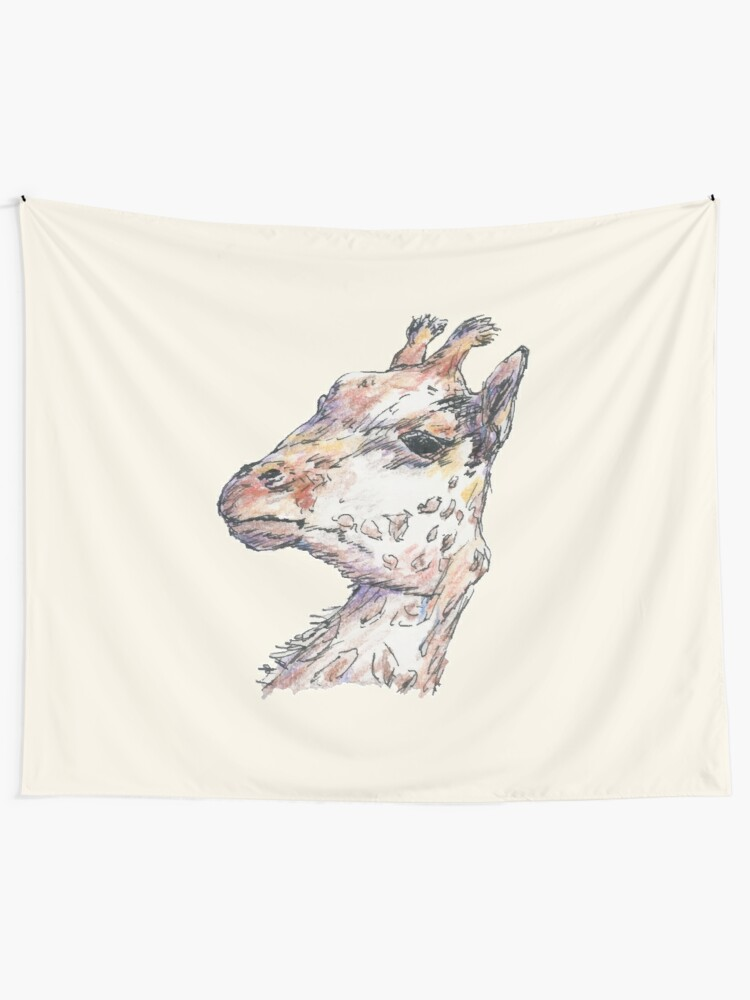 Alternate view of Giraffe Tapestry