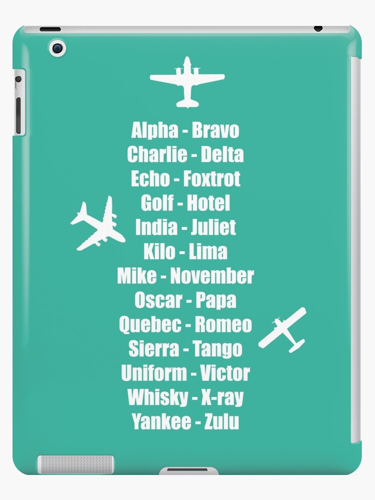 Pilot Phonetic Alphabet Military Cadet Airplanes Ipad Case Skin By Creativetwins Redbubble