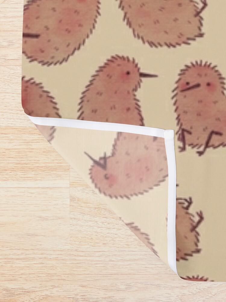 Alternate view of Cute Kiwi Birds  Shower Curtain