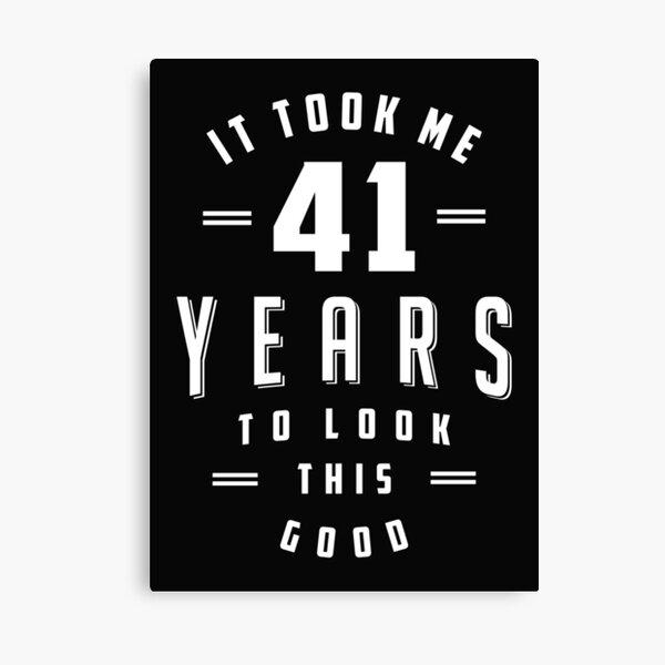 Cumpleaños de 41 años Lienzo