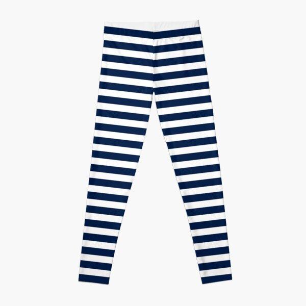 Striped Navy Blue Leggings