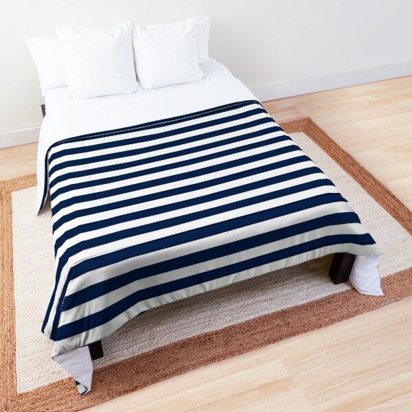 Striped Navy Blue Comforter