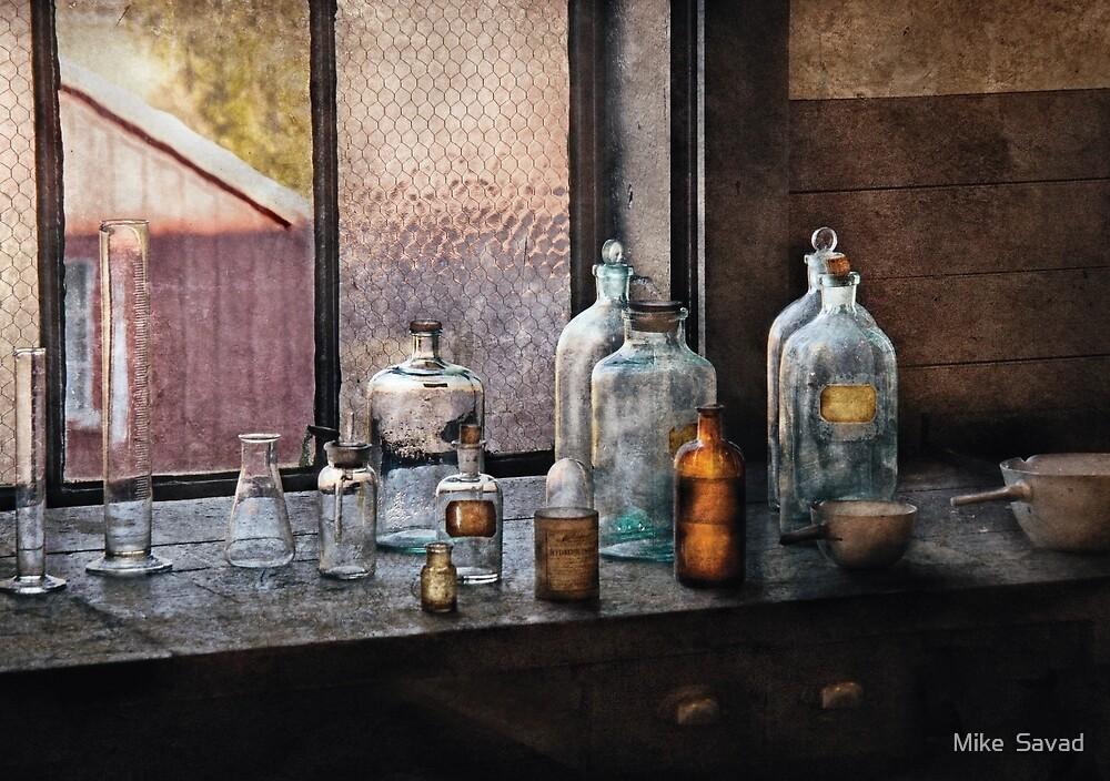 Chemist - Bottles by Michael Savad