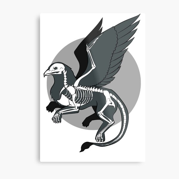 The Skeleton of a Griffin Metal Print
